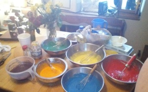 My rainbow cake