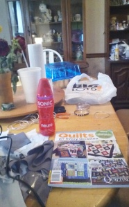 My Quilting book and my Neuro Sonic...